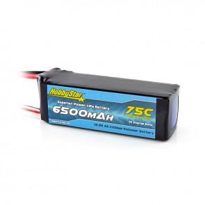 HobbyStar 6500mAh 14.8V, 4S 75C LiPo Battery