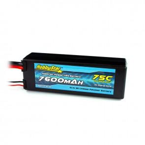 HobbyStar 7600mAh 11.1V, 3S 75C Hardcase LiPo Battery - XT90 Connector