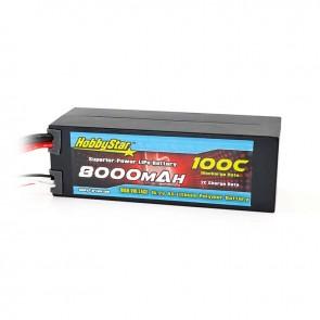 HobbyStar 8000mAh 15.2V, 4S HV 100C Hardcase LiPo Battery - EC5 style
