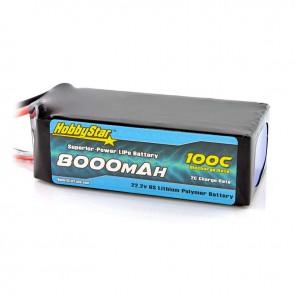 HobbyStar 8000mAh 22.2V, 6S 100C LiPo Battery
