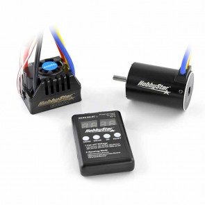 HobbyStar Short Course Combo, 80A ESC and 550 Brushless, Sensorless 4-Pole Motor, 5.0mm Shaft, Includes Program Card