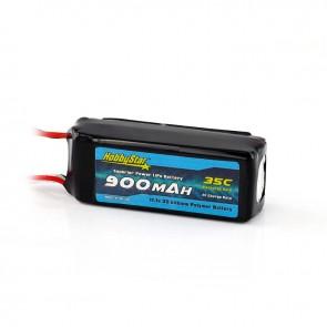 HobbyStar 900mAh 11.1V, 3S 35C LiPo Battery