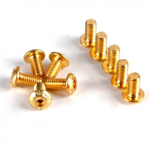 HobbyStar Steel Button Head Screw, Gold, 10pk