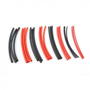 HobbyStar Heat-Shrink Tubing, 2-6mm, Variety Pack. Red/Blk
