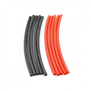 HobbyStar Heat-Shrink Tubing, 5mm, 5pcs. Red/Blk